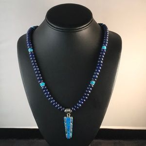 Jewelry - Lapis Opal Turquoise Sterling Silver Necklace